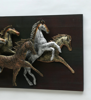 Horse On Panel Wall Art With Led In Multicolour