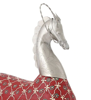 Handcrafted horse with hanging bell showpiece