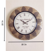 """Vintage Brass Fitted 18"""" Analog Designer Wall Clock At low price"""