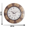 """Vintage Brass Fitted 18"""" Big Round Wall Clock Buy Online"""