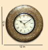 """Vintage Brass Fitted 12"""" Village Clockworks Wall Clock By Decorlake"""