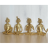 Tribal Group Playing Musical Instrument Dhokra Brass Art