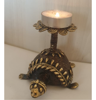 Brass Turtle Tabletop Candle Holder Dhokra Art