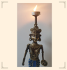 Handcrafted Tribal Lady Figurine Dhokra Art By Decorlake