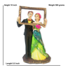 Buy Online Newly Married Couple Statue Posing for Selfie
