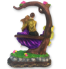 Buy online Love Couple Sitting on Tree bark bench Couple Statue Gift from decorlake