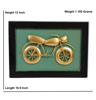 Bullet Bike Wall Decor Hanging In Gold And Green by Decorlake