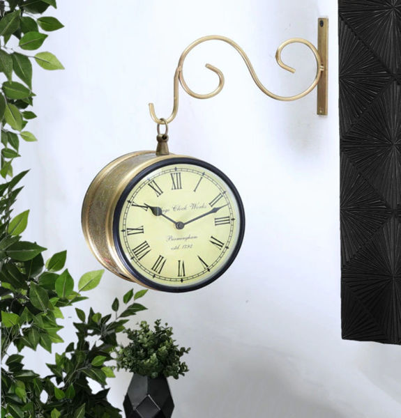 """Vintage Double Sided 6"""" Railway style wall Clock"""