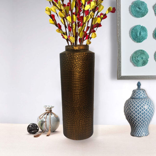 Metallic Brown Dino Table top Vase for Office or home