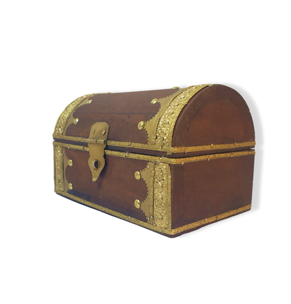 Traditional wooden box with brass work
