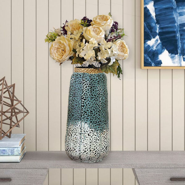 Rustic Metallic Royale Table top Vase for Office or home or Garden