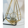 Iron Made Golden Decorative T-Lite Candle Stand