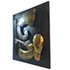 Wooden Frame Lord Ganesh Playing Music Instrument Wall Art