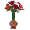 Handcrafted Iron Made Surai Flower Pot with Rustic look