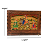 Wood Carved Hand Painted Rectangle Shape Key Holder For Wall