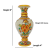 Handcrafted 9 Inch Marble Vase with beautiful Carving by Decorlake