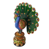 Rajasthani Made Wooden carved Peacock Showpiece