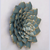 Buy Wrought Iron Flower In Cyan Wall Art from Decorlake