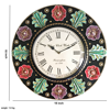 Antique Wooden wall clock with flower art