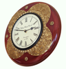 Wall clock with brass work