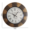Vintage Brass Fitted Analog Round Wall Clock
